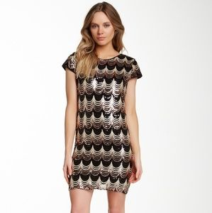 Romeo+Juliet Couture Sequined Shift Dress sx S